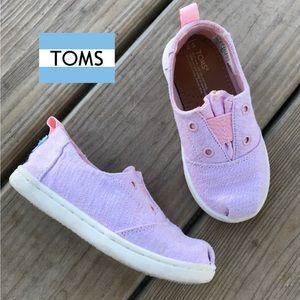 Toms Lumin Blossom Chambray Slip-on Girls 7